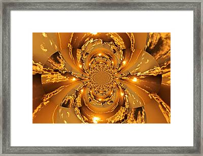 Sunset Kaleidoscope 4 Framed Print by Marty Koch