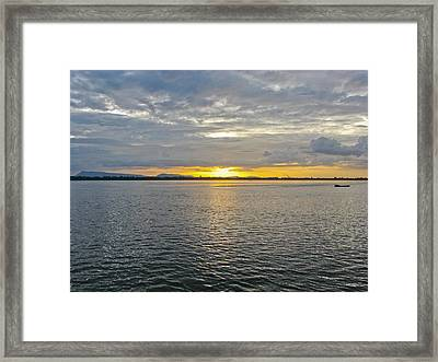 Sunset Landscape Framed Print by Nawarat Namphon