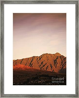 Sunset Mountain 2 Framed Print by Pixel Chimp