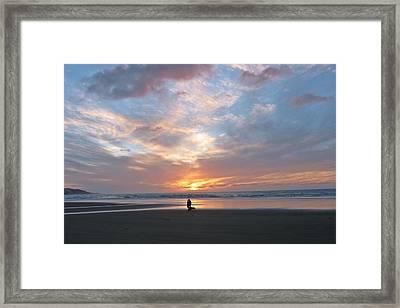 Sunset On 90 Mile Beach Framed Print by Judy Watson