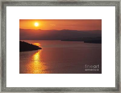 Sunset On Flathead Lake With Wild Horse Island Framed Print by Scotts Scapes