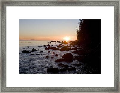 Sunset On The Pacific Northwest Coast Framed Print by Taylor S. Kennedy
