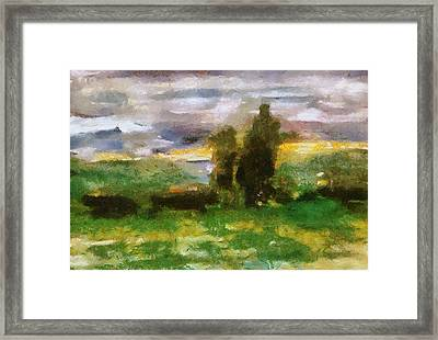 Sunset On The Road - The Highway Series Framed Print by Michelle Calkins