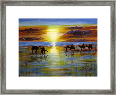 Sunset On The Top End Framed Print by Susan McLean Gray