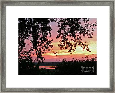 Sunset Over Canyon Lake Framed Print by Randi Shenkman