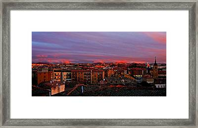 Sunset Over Segovia ... Framed Print by Juergen Weiss