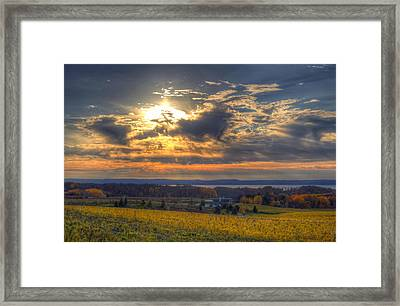 Sunset Over The Bay Framed Print by Twenty Two North Photography