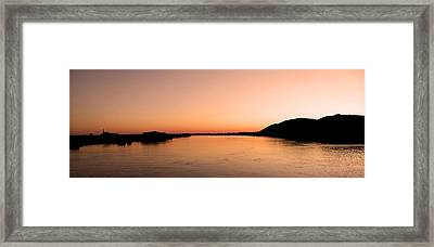 Sunset Over The Danube ... Framed Print by Juergen Weiss