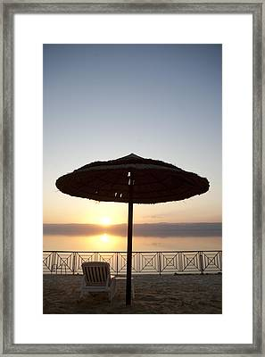 Sunset Over The Dead Sea Framed Print by Taylor S. Kennedy