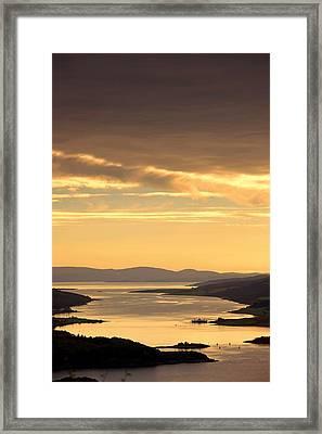 Sunset Over Water, Argyll And Bute Framed Print by John Short