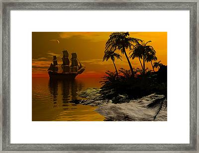 Sunset Passage Framed Print by Claude McCoy