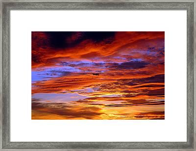 Sunset Pattern Framed Print by Dan Myers