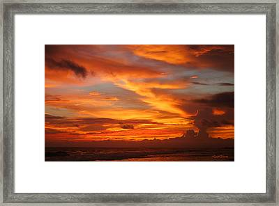Sunset Playa Hermosa Costa Rica Framed Print by Michelle Wiarda