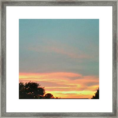 #sunset Redux #instadroid #andrography Framed Print by Kel Hill