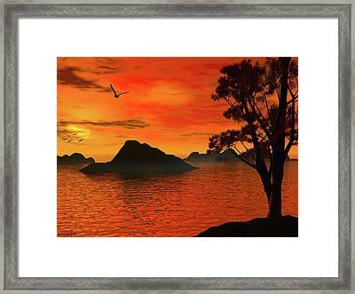 Sunset Serenade Framed Print by Lourry Legarde