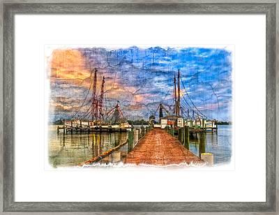 Sunset Shrimping II Framed Print by Debra and Dave Vanderlaan