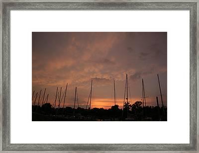 Sunset Sky Annapolis Framed Print by Valia Bradshaw
