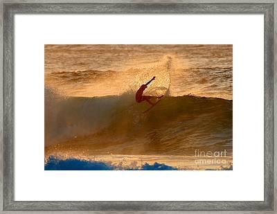 Sunset Slash Framed Print by Paul Topp