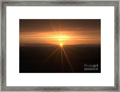 Sunset Star Framed Print by Stephen Clarridge