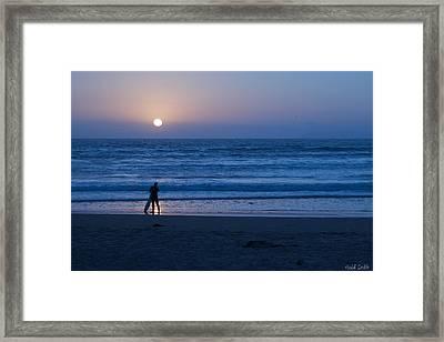 Sunset Surfer Framed Print by Heidi Smith