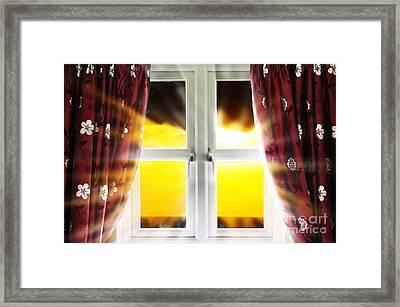 Sunset Through Window Framed Print by Simon Bratt Photography LRPS