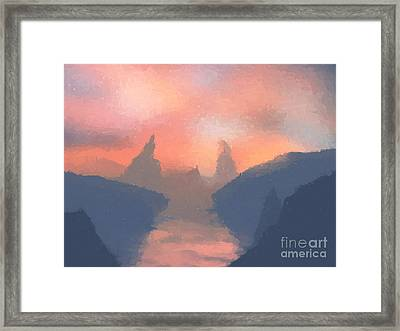 Sunset Valley  Framed Print by Pixel  Chimp