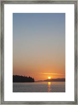 Sunset With The Mountains Of Vancouver Framed Print by Taylor S. Kennedy