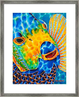 Sunshine Angelfish Framed Print by Daniel Jean-Baptiste