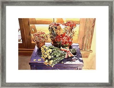 Sunshine Roses Framed Print by David Lloyd Glover