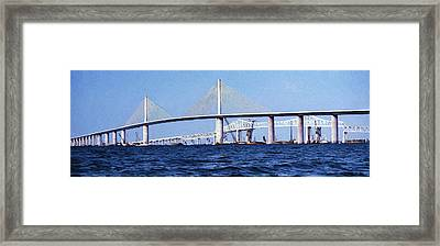 Sunshine Skyway Bridge II Framed Print by Richard Rizzo