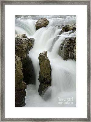 Sunwapta Falls 2 Framed Print by Bob Christopher