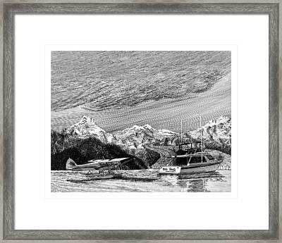 Super Cub On Floats Framed Print by Jack Pumphrey