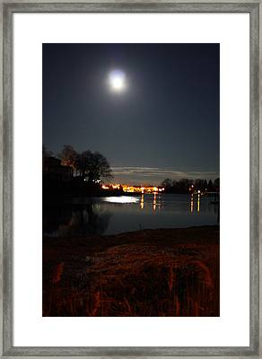 Super Moon Night   2 Framed Print by Mark Ashkenazi