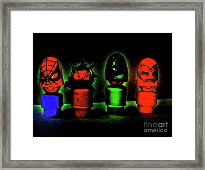 Superheroes Framed Print by Ricky Sencion