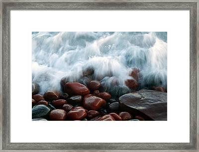 Superior On The Rocks Framed Print by Bill Morgenstern
