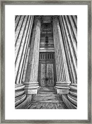 Supreme Court Building 11 Framed Print by Val Black Russian Tourchin