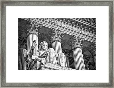 Supreme Court Building 17 Framed Print by Val Black Russian Tourchin