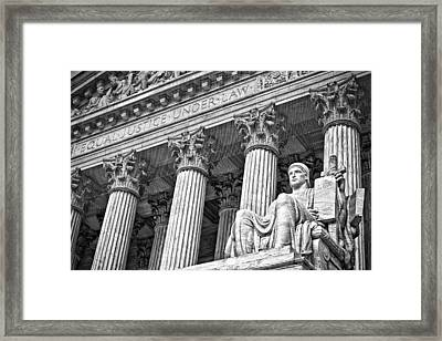 Supreme Court Building 18 Framed Print by Val Black Russian Tourchin