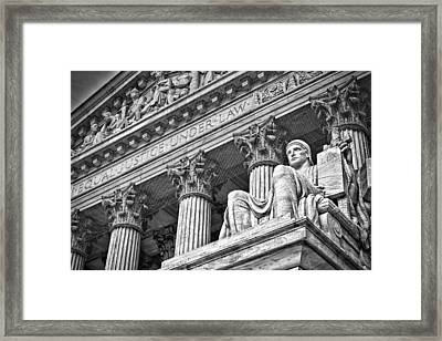 Supreme Court Building 20 Framed Print by Val Black Russian Tourchin