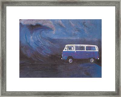 surf Bus Framed Print by Sharon Poulton
