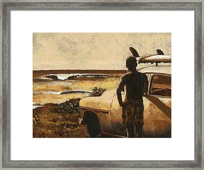 Surf Check Framed Print by Mark Kingsley Brown