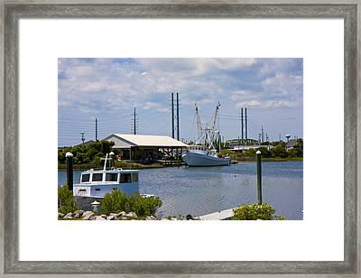 Surf City View Framed Print by Betsy C Knapp