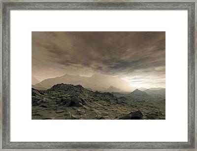 Surface Of Venus, Artwork Framed Print by Detlev Van Ravenswaay