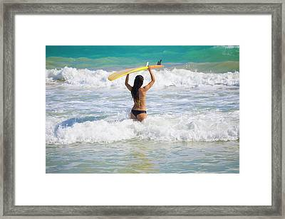 Surfer Girl Framed Print by Tomas Del Amo - Printscapes