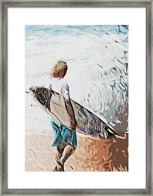 Surfer Framed Print by Tilly Williams