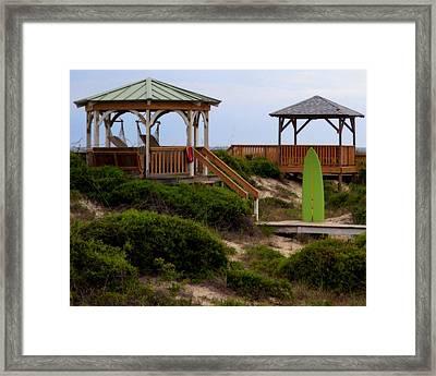 Surfs Up Framed Print by Karen Wiles