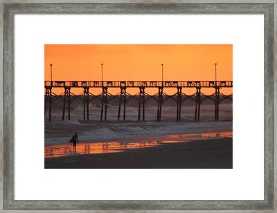 Surfs Walking Framed Print by Static Studios