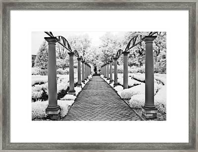 Surreal Cranbrook Estates - Michigan Garden Framed Print by Kathy Fornal