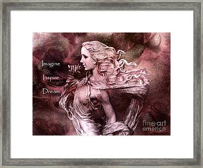 Surreal Fantasy Inspirational Angel Art  Framed Print by Kathy Fornal