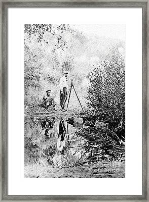 Survey Crew Framed Print by Jefferson Hobbs